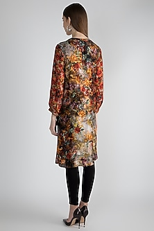 Multi Colored Floral Printed Tunic by Rocky Star
