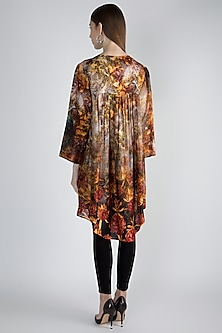 Multi Colored Tunic With Digital Print by Rocky Star
