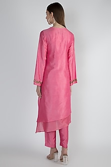 Pink Embroidered Tunic Set by Rocky Star