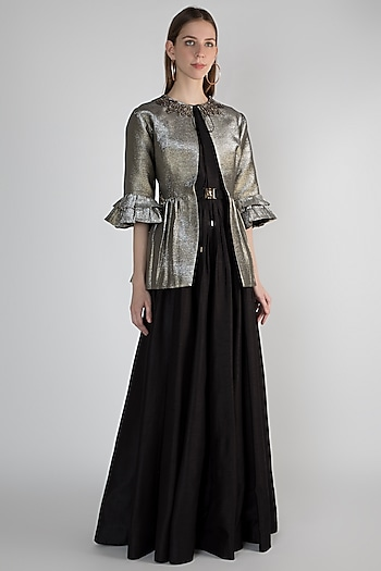 Golden Embroidered Jacket by Rocky Star