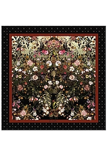Multi Colored Intricate Floral Printed Scarf by Rocky Star