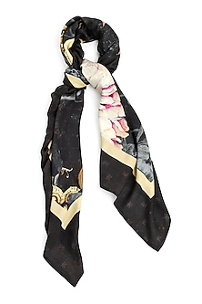 Multi Colored Architectural Floral Printed Scarf by Rocky Star
