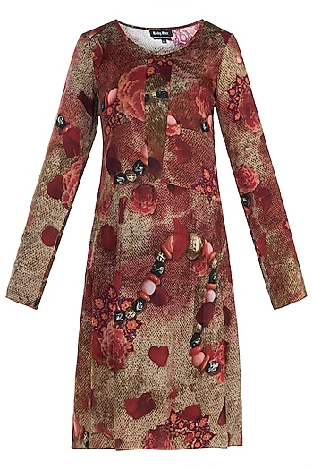 Red Printed Tunic by Rocky Star