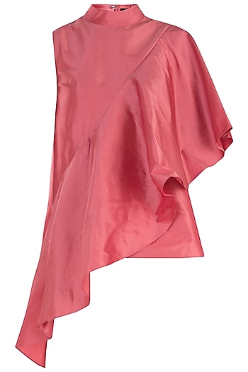 Peach Asymmetrical Top by Rocky Star