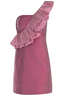 Onion Pink Ruffle Dress by Rocky Star