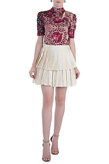 Ivory Skater Skirt by Rocky Star