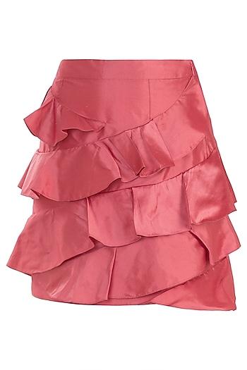 Peach Ruffle Skirt by Rocky Star