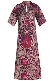 Red Printed Midi Dress by Rocky Star