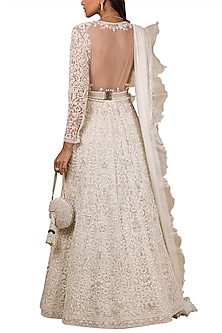 Ivory Embroidered Anarkali by Ridhi Mehra