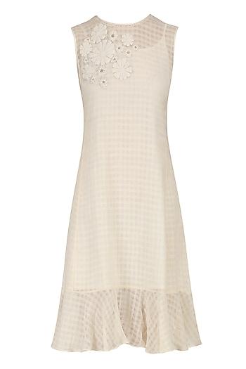 Off White Daisy Dress by Raiman