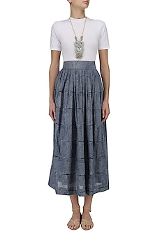 Indigo Alyssum Skirt by Raiman