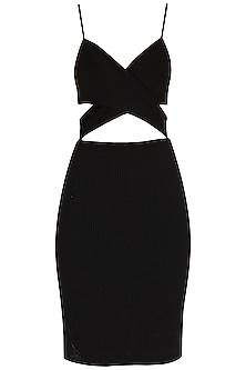 Black Poly Dress by Renge