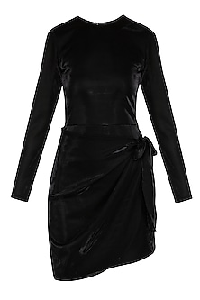 Black Metallised Mini Dress by Renge