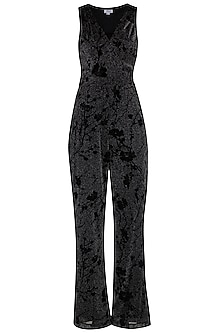 Black Metallised Jumpsuit by Renge