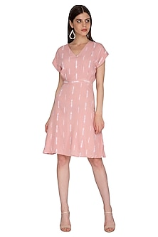 Mellow Rose Pink Mini Dress by Renge
