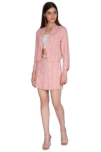 Mellow Rose Pink Mini Skirt by Renge
