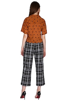 Green Striped & Checkered Trouser Pants by Renge