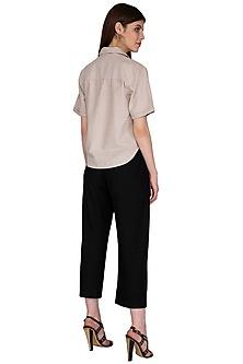 Black Nylon Trouser Pants by Renge
