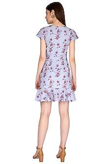 Blue Embroidered Dress by Renge