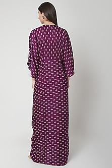 Violet Printed Cowl Dress by Ruchira Nangalia