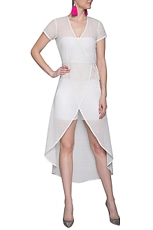 Off white midi dress by RENGE