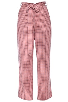 Peach trouser pants by RENGE