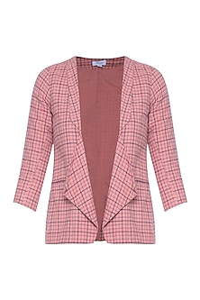 Peach fully lined blazer by RENGE
