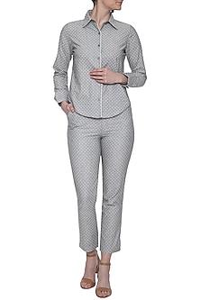 Grey cotton shirt by RENGE