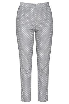 Grey cotton trouser pants by RENGE