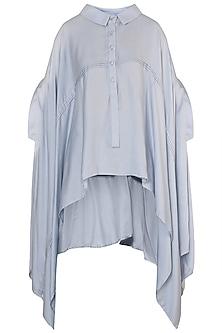 Grey Cape Style Tunic by Rimi Nayak