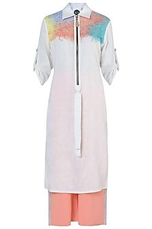 White Long Tunic by Rimi Nayak