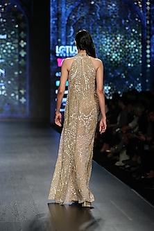 Gold Layered Gown by Rabani & Rakha