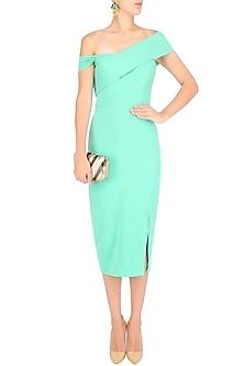 Mint Green Crossbar Pencil Dress by Rutu Neeva