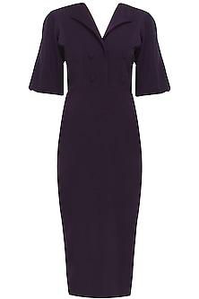Purple heliotrope suit dress by Rutu Neeva