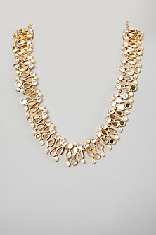 Gold Finish Round Pearl Necklace by Rohita and Deepa-POPULAR PRODUCTS AT STORE