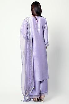 Purple Zardosi & Sequins Embroidered Kurta Set by Romaa
