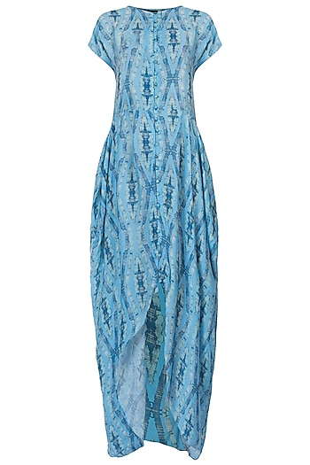 Blue Maxi Dress by Roshni Chopra