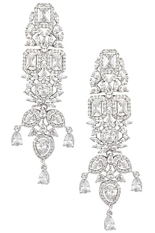 Silver Plated Zircons and American Diamond Earrings by Rose Jewellery Collection