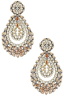 Micro Gold Plated Yellow Stone and Zircons Earrings by Rose Jewellery Collection