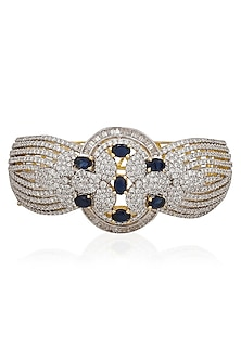 Micro Gold Plated Zircon and Blue Stones Bracelet by Rose Jewellery Collection