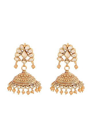 Gold Plated Bhani Jhumki Earrings by Anita Dongre Silver Jewellery