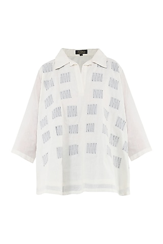 White Layered Top by Rouka