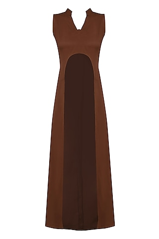 Brick Red High Low Tunic by Rouka