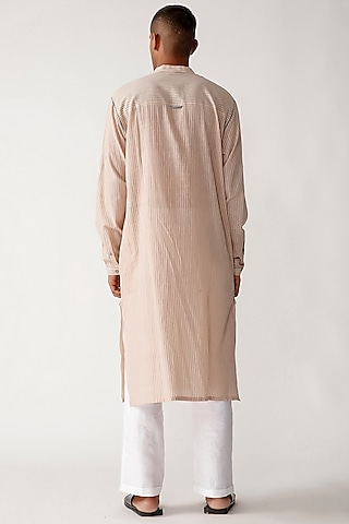 Ivory Handloom Cotton Kurta Set by Rajesh Pratap Singh Men