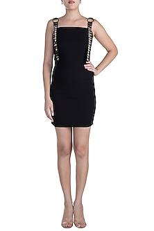 Black Embellished Mini Dress by RS by Rippii Sethi