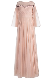 Peach Embellished  Gown by RS by Rippii Sethi