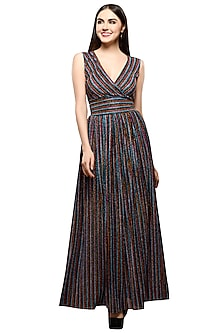 Multicolored Striped Maxi Dress by RS by Rippii Sethi