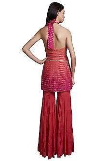 Pink Kurta With Sharara Pants & Belt by RS by Rippii Sethi