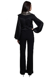 Black Metallic Embellished Jumpsuit by RS by Rippii Sethi
