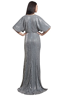 Grey Shimmer Gown by RS by Rippii Sethi